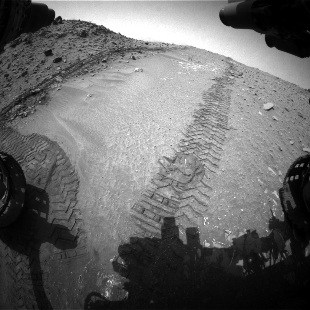 Nasa's Mars rover Curiosity acquired this image using its Front Hazard Avoidance Camera (Front Hazcam) on Sol 713, at drive 636, site number 40