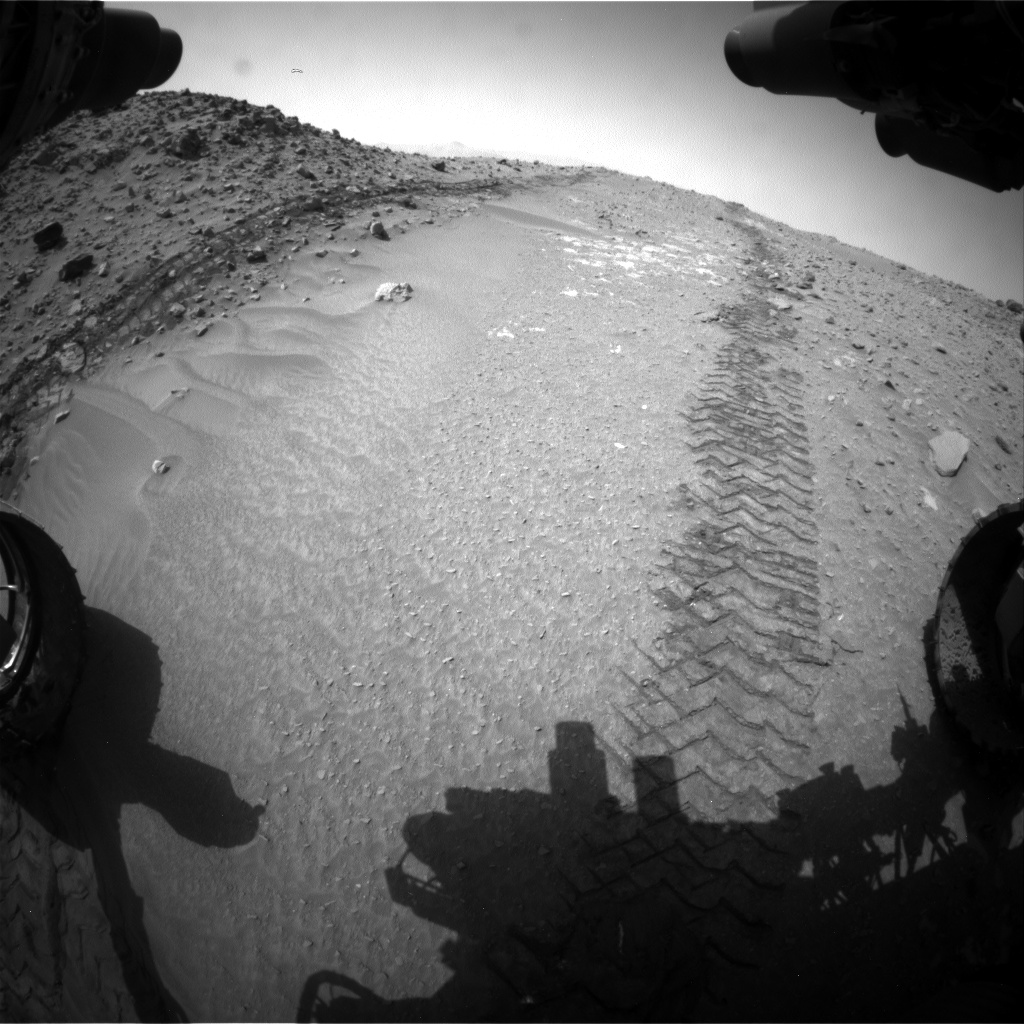 Nasa's Mars rover Curiosity acquired this image using its Front Hazard Avoidance Camera (Front Hazcam) on Sol 713, at drive 642, site number 40