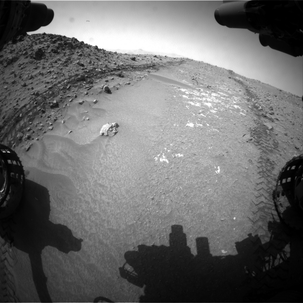 Nasa's Mars rover Curiosity acquired this image using its Front Hazard Avoidance Camera (Front Hazcam) on Sol 713, at drive 648, site number 40