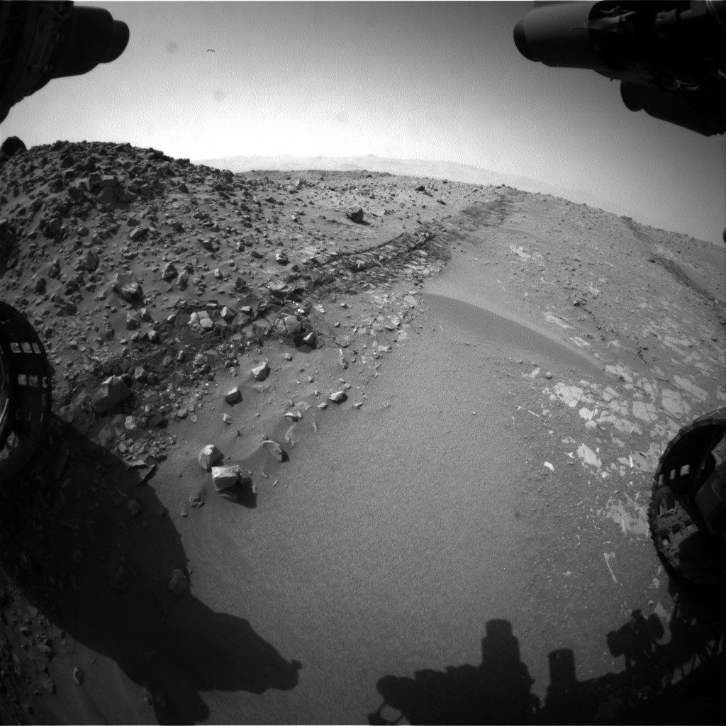 Nasa's Mars rover Curiosity acquired this image using its Front Hazard Avoidance Camera (Front Hazcam) on Sol 713, at drive 660, site number 40