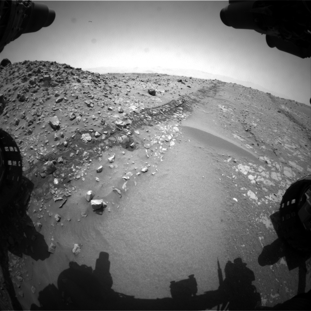 Nasa's Mars rover Curiosity acquired this image using its Front Hazard Avoidance Camera (Front Hazcam) on Sol 714, at drive 660, site number 40
