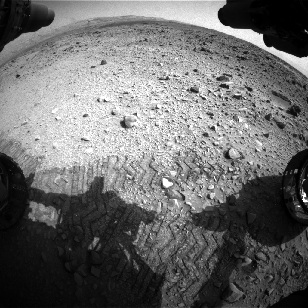 Nasa's Mars rover Curiosity acquired this image using its Front Hazard Avoidance Camera (Front Hazcam) on Sol 714, at drive 1000, site number 40