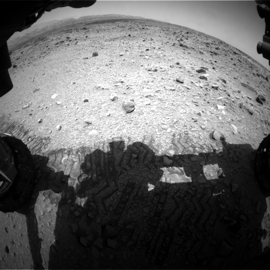 Nasa's Mars rover Curiosity acquired this image using its Front Hazard Avoidance Camera (Front Hazcam) on Sol 717, at drive 1000, site number 40