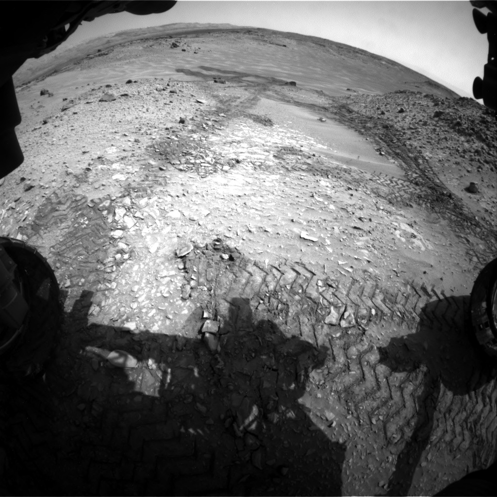 Nasa's Mars rover Curiosity acquired this image using its Front Hazard Avoidance Camera (Front Hazcam) on Sol 717, at drive 1286, site number 40