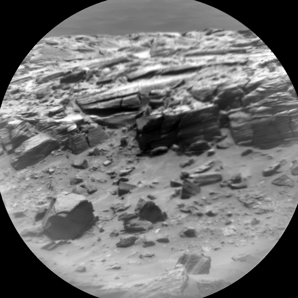 Nasa's Mars rover Curiosity acquired this image using its Chemistry & Camera (ChemCam) on Sol 717, at drive 1000, site number 40