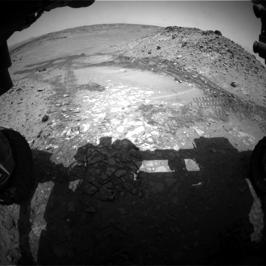 NASA's Mars rover Curiosity acquired this image using its Front Hazard Avoidance Cameras (Front Hazcams) on Sol 720