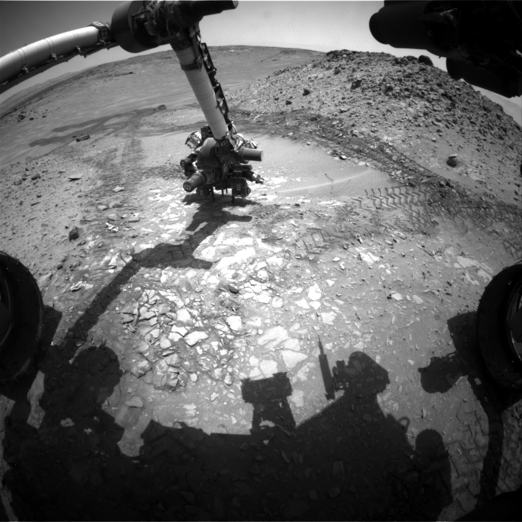 Nasa's Mars rover Curiosity acquired this image using its Front Hazard Avoidance Camera (Front Hazcam) on Sol 722, at drive 1378, site number 40