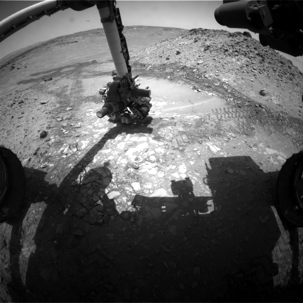 Nasa's Mars rover Curiosity acquired this image using its Front Hazard Avoidance Camera (Front Hazcam) on Sol 723, at drive 1378, site number 40