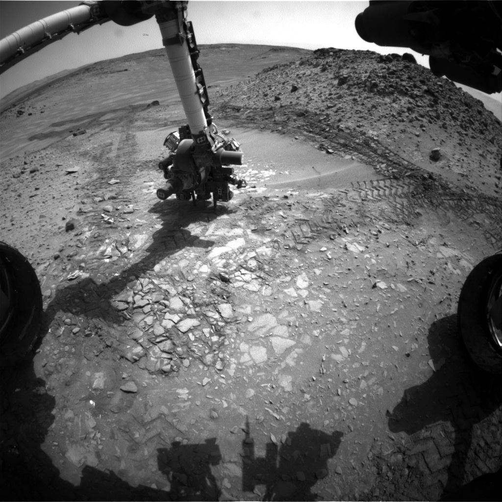 Nasa's Mars rover Curiosity acquired this image using its Front Hazard Avoidance Camera (Front Hazcam) on Sol 724, at drive 1378, site number 40