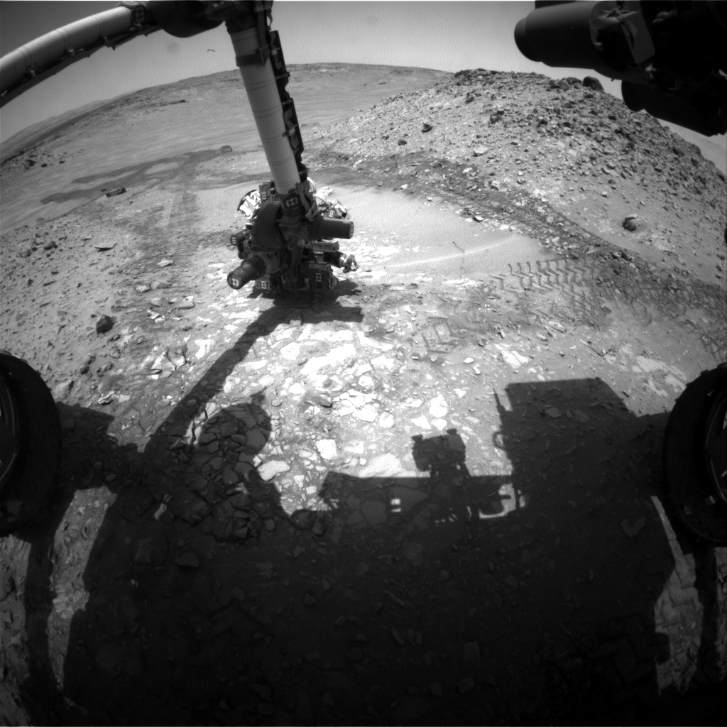 Nasa's Mars rover Curiosity acquired this image using its Front Hazard Avoidance Camera (Front Hazcam) on Sol 725, at drive 1378, site number 40