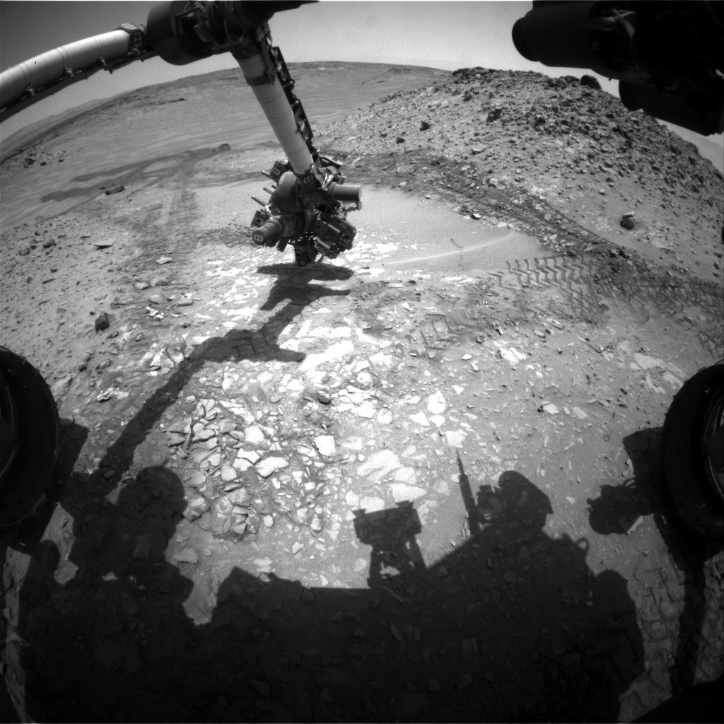 Nasa's Mars rover Curiosity acquired this image using its Front Hazard Avoidance Camera (Front Hazcam) on Sol 726, at drive 1378, site number 40