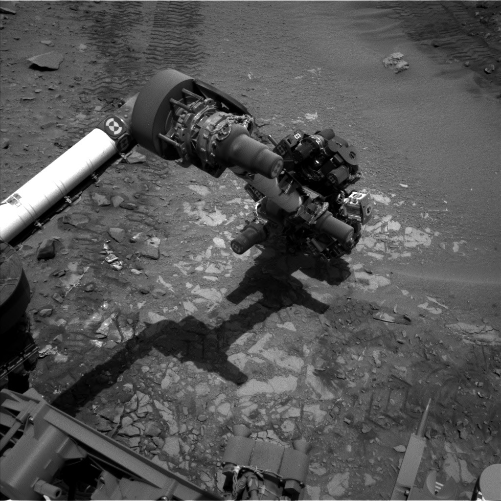 NASA's Mars rover Curiosity acquired this image using its Left Navigation Camera (Navcams) on Sol 726
