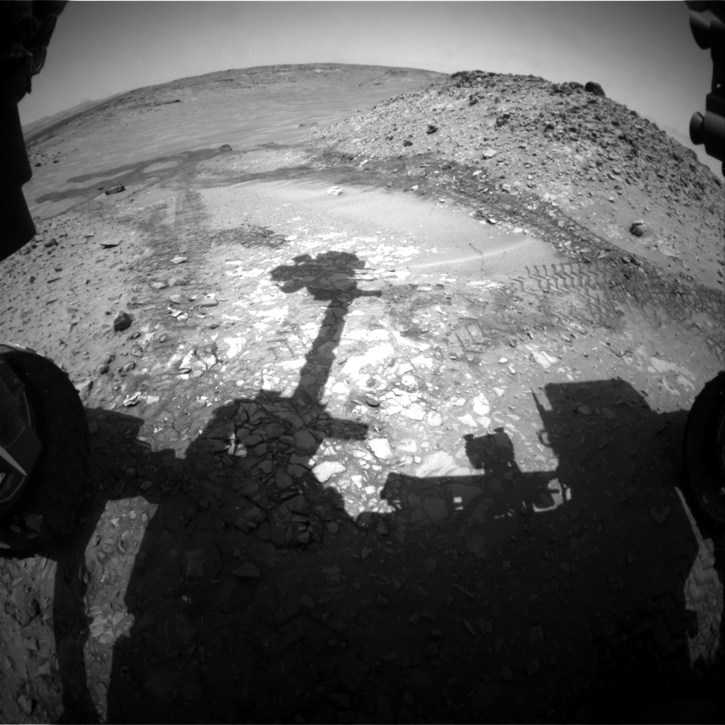 NASA's Mars rover Curiosity acquired this image using its Front Hazard Avoidance Cameras (Front Hazcams) on Sol 727