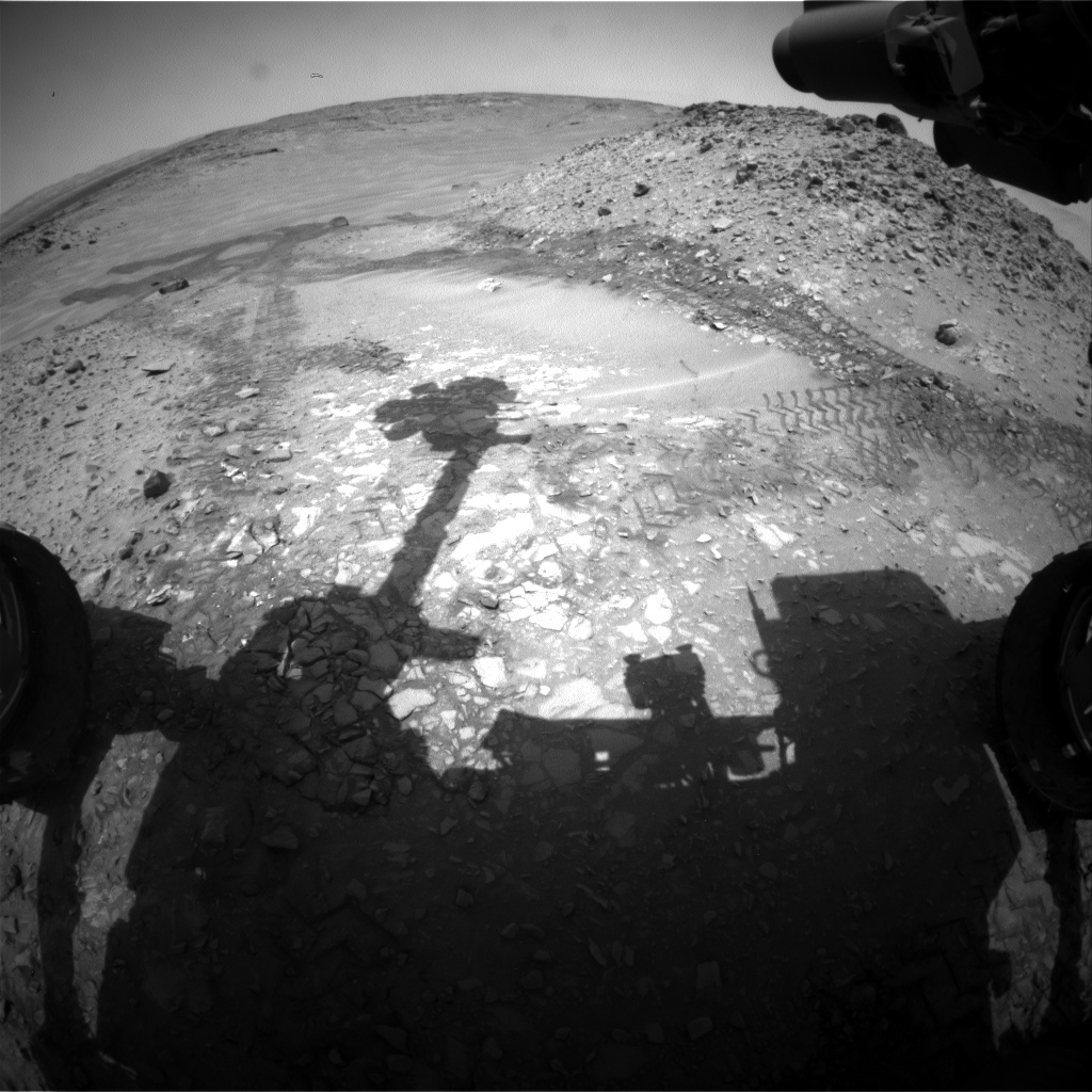 NASA's Mars rover Curiosity acquired this image using its Front Hazard Avoidance Cameras (Front Hazcams) on Sol 728