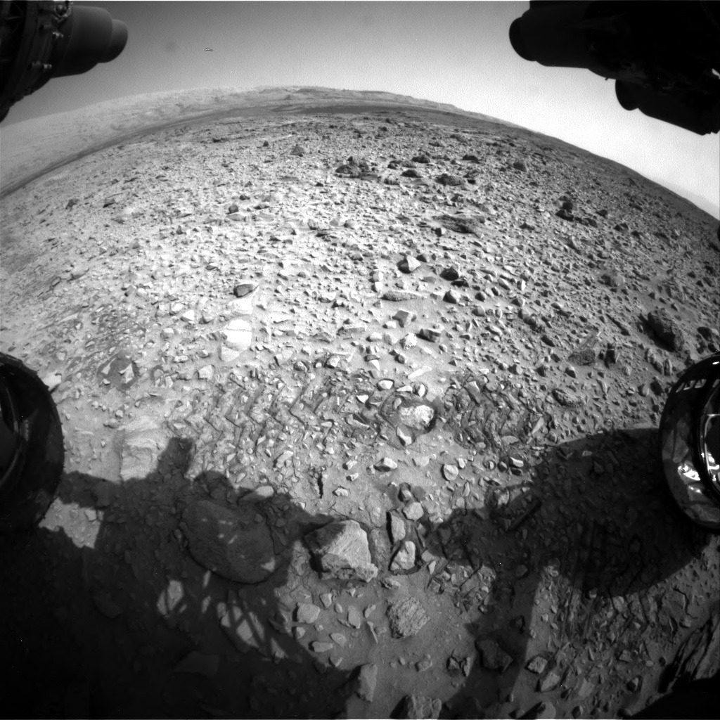 Nasa's Mars rover Curiosity acquired this image using its Front Hazard Avoidance Camera (Front Hazcam) on Sol 729, at drive 1850, site number 40