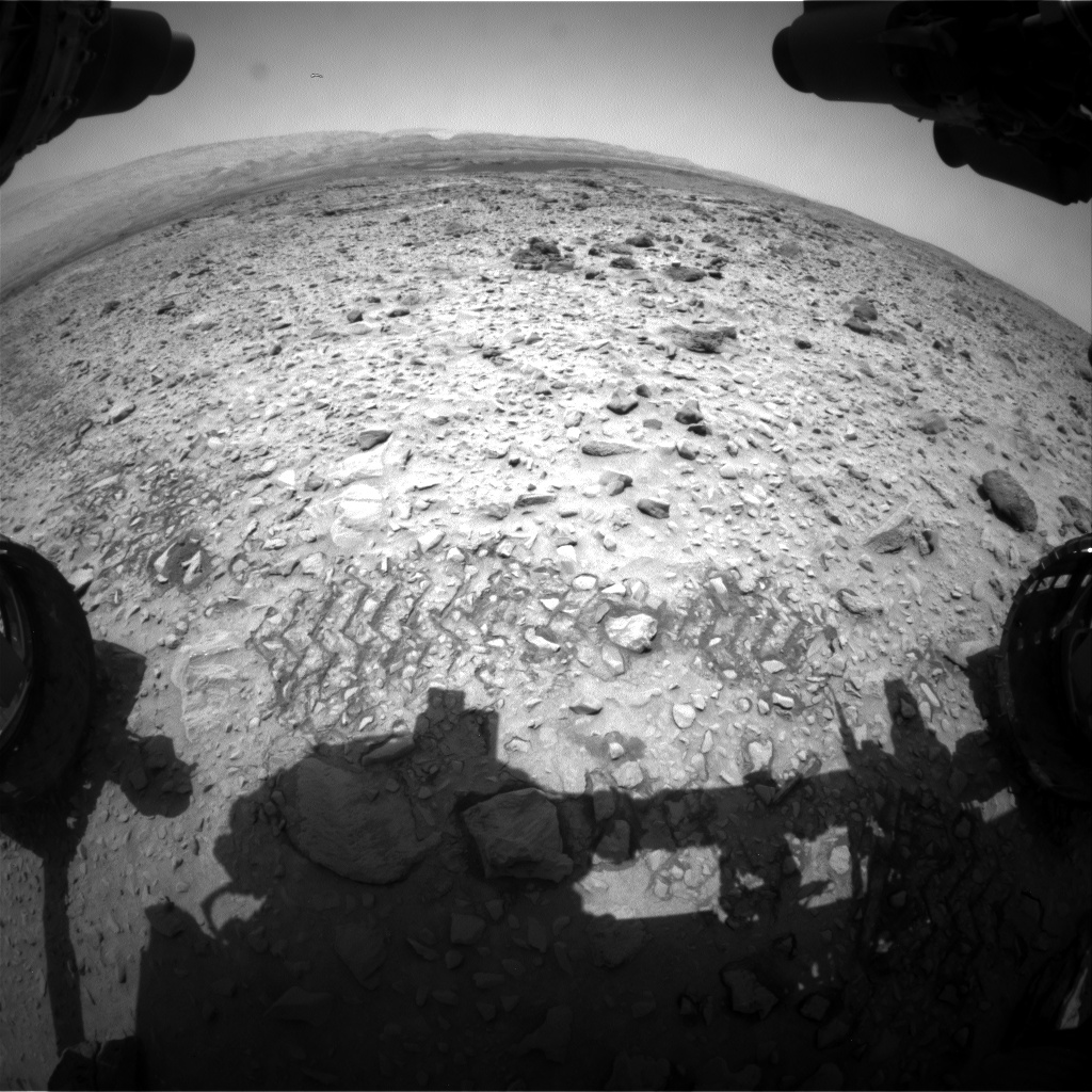 Nasa's Mars rover Curiosity acquired this image using its Front Hazard Avoidance Camera (Front Hazcam) on Sol 730, at drive 1850, site number 40