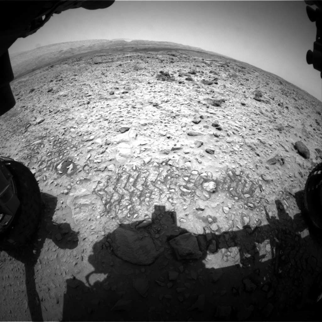 Nasa's Mars rover Curiosity acquired this image using its Front Hazard Avoidance Camera (Front Hazcam) on Sol 731, at drive 1850, site number 40
