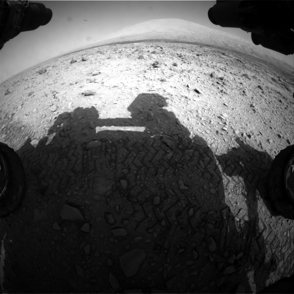 Nasa's Mars rover Curiosity acquired this image using its Front Hazard Avoidance Camera (Front Hazcam) on Sol 731, at drive 2040, site number 40