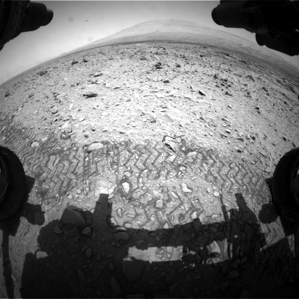 Nasa's Mars rover Curiosity acquired this image using its Front Hazard Avoidance Camera (Front Hazcam) on Sol 732, at drive 2040, site number 40