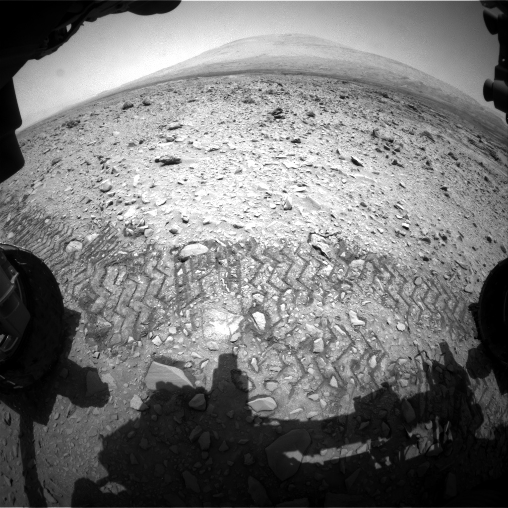 Nasa's Mars rover Curiosity acquired this image using its Front Hazard Avoidance Camera (Front Hazcam) on Sol 733, at drive 2040, site number 40