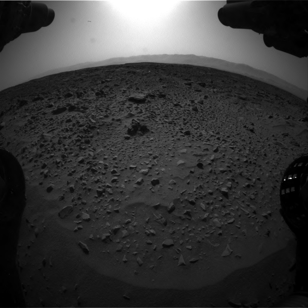 NASA's Mars rover Curiosity acquired this image using its Front Hazard Avoidance Cameras (Front Hazcams) on Sol 733
