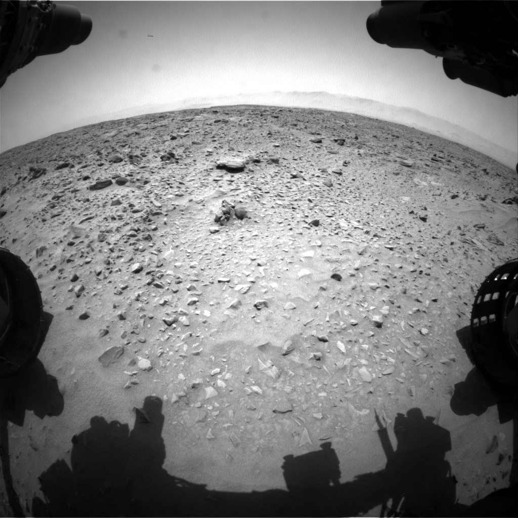 Nasa's Mars rover Curiosity acquired this image using its Front Hazard Avoidance Camera (Front Hazcam) on Sol 734, at drive 0, site number 41
