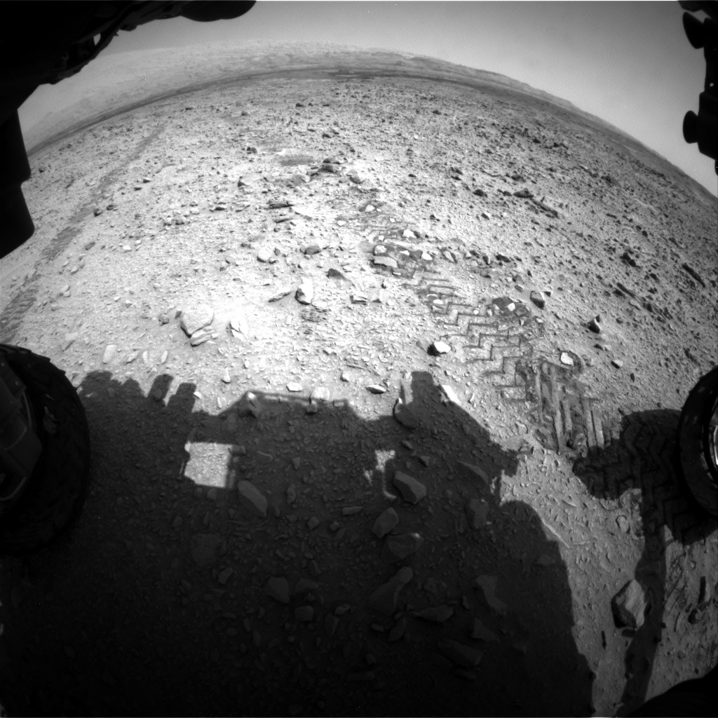 NASA's Mars rover Curiosity acquired this image using its Front Hazard Avoidance Cameras (Front Hazcams) on Sol 735