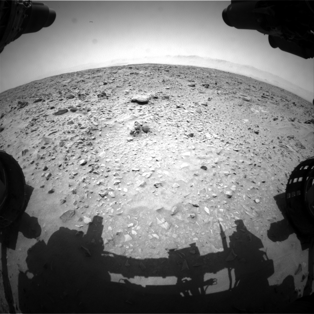 Nasa's Mars rover Curiosity acquired this image using its Front Hazard Avoidance Camera (Front Hazcam) on Sol 735, at drive 0, site number 41