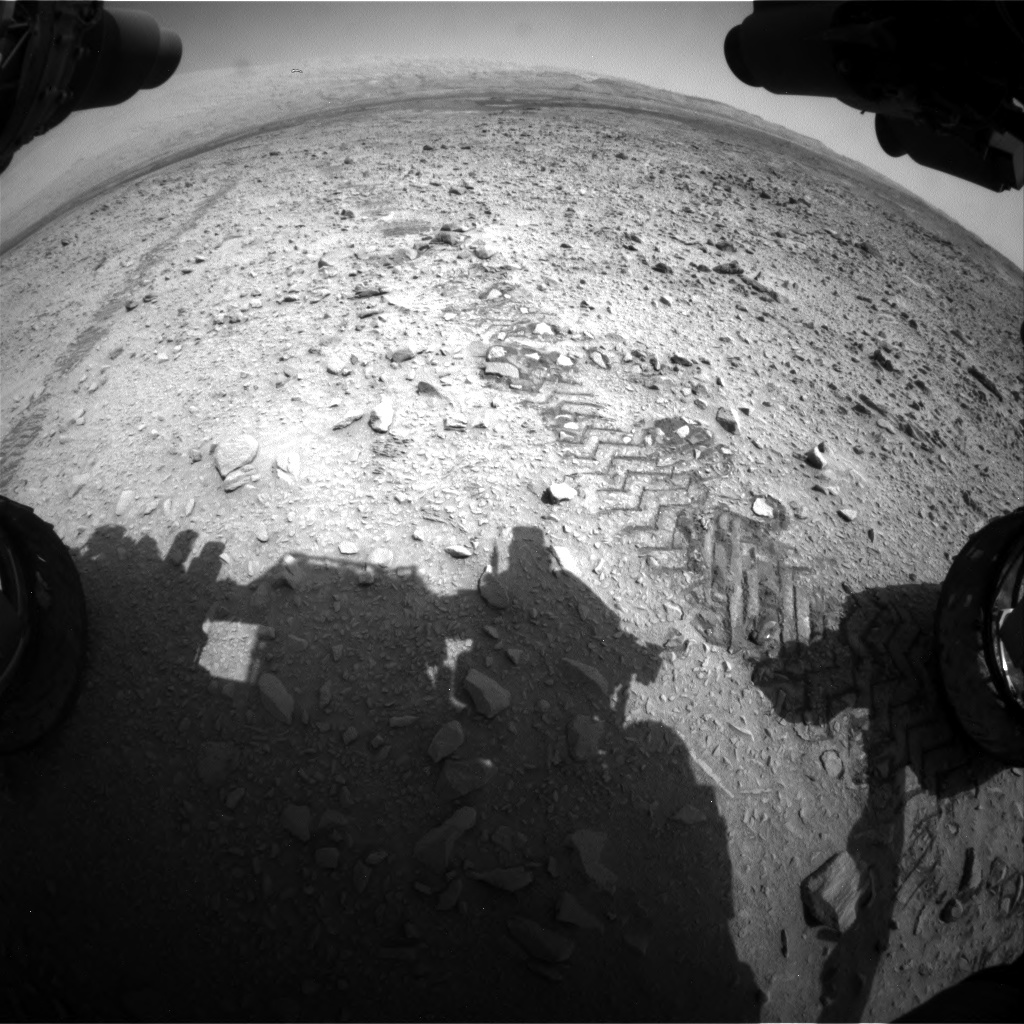 Nasa's Mars rover Curiosity acquired this image using its Front Hazard Avoidance Camera (Front Hazcam) on Sol 735, at drive 322, site number 41