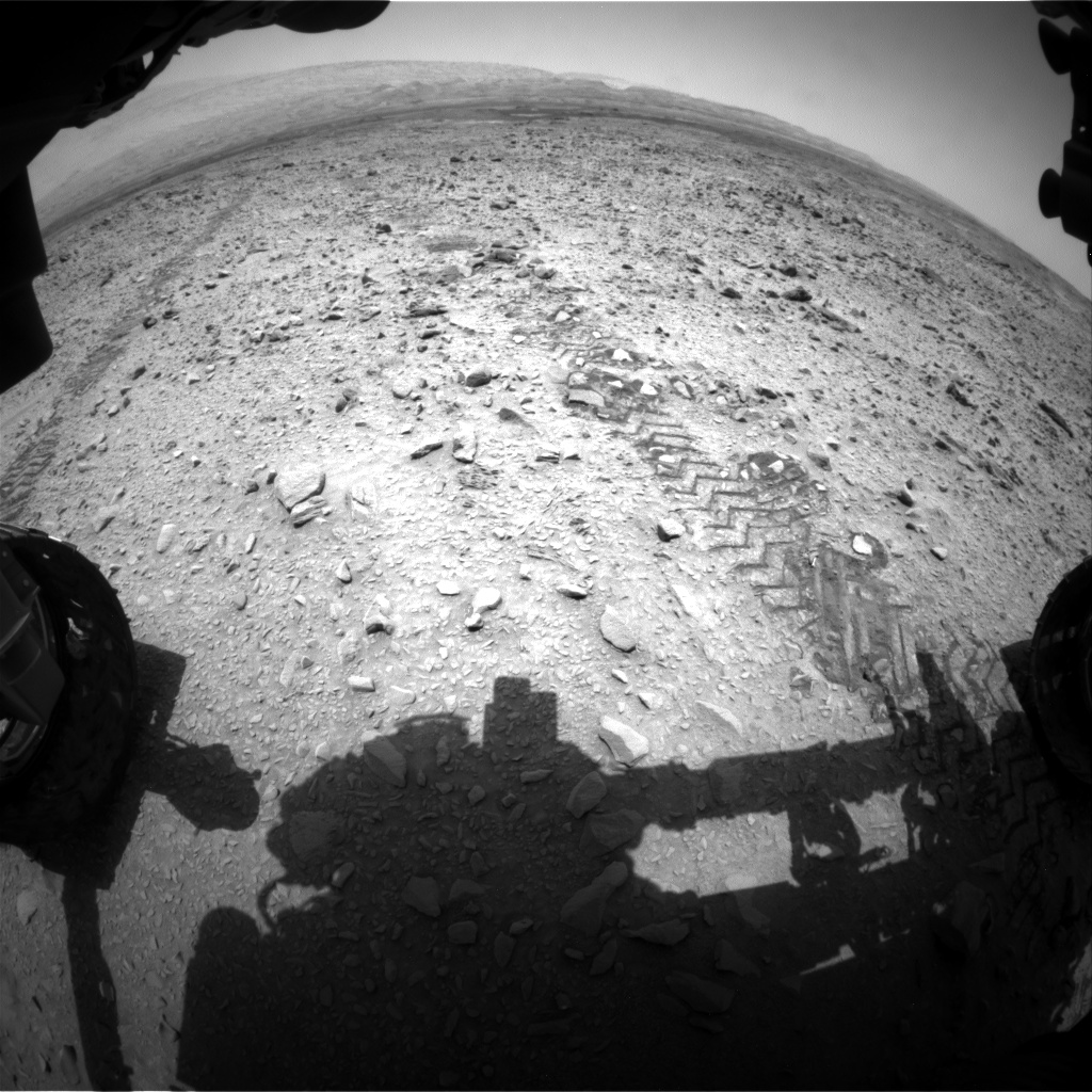 Nasa's Mars rover Curiosity acquired this image using its Front Hazard Avoidance Camera (Front Hazcam) on Sol 738, at drive 322, site number 41