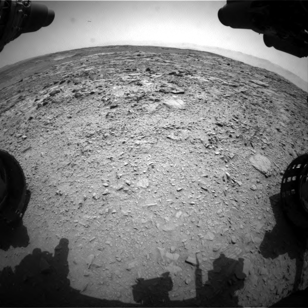 Nasa's Mars rover Curiosity acquired this image using its Front Hazard Avoidance Camera (Front Hazcam) on Sol 738, at drive 592, site number 41