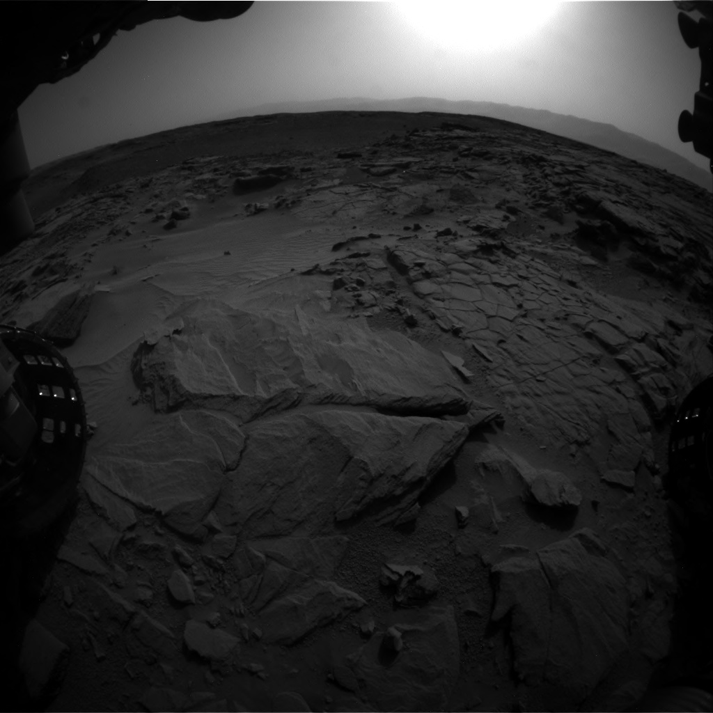Nasa's Mars rover Curiosity acquired this image using its Front Hazard Avoidance Camera (Front Hazcam) on Sol 739, at drive 748, site number 41