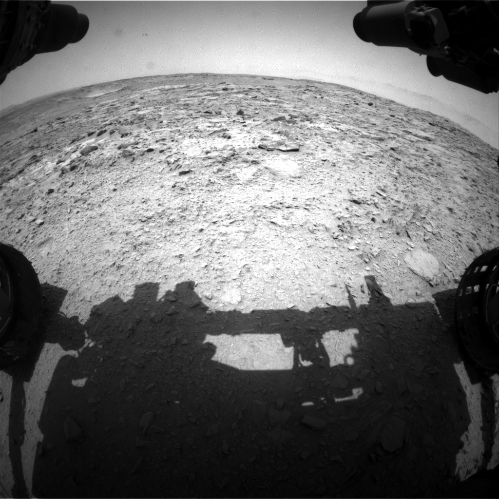 Nasa's Mars rover Curiosity acquired this image using its Front Hazard Avoidance Camera (Front Hazcam) on Sol 739, at drive 592, site number 41