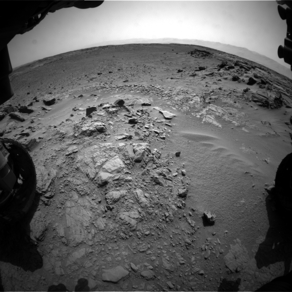 Nasa's Mars rover Curiosity acquired this image using its Front Hazard Avoidance Camera (Front Hazcam) on Sol 740, at drive 838, site number 41