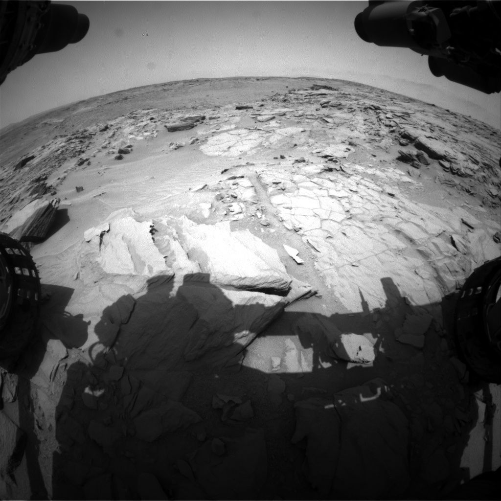 Nasa's Mars rover Curiosity acquired this image using its Front Hazard Avoidance Camera (Front Hazcam) on Sol 740, at drive 748, site number 41