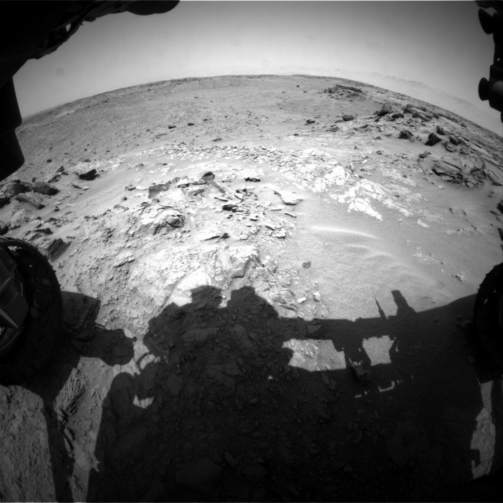 NASA's Mars rover Curiosity acquired this image using its Front Hazard Avoidance Cameras (Front Hazcams) on Sol 741