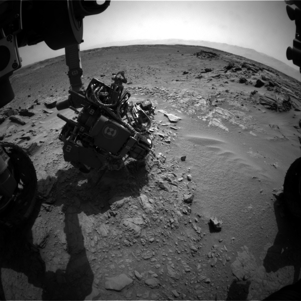 Nasa's Mars rover Curiosity acquired this image using its Front Hazard Avoidance Camera (Front Hazcam) on Sol 742, at drive 838, site number 41
