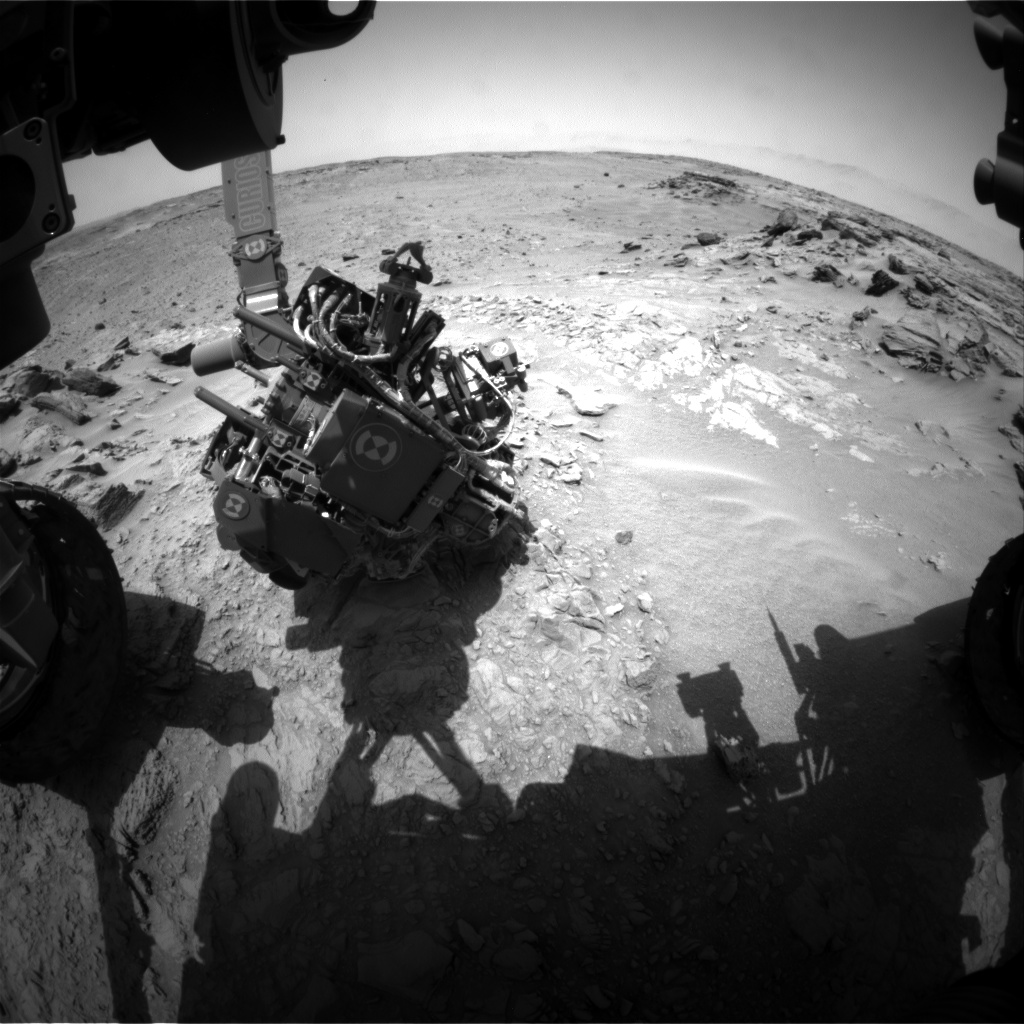 Nasa's Mars rover Curiosity acquired this image using its Front Hazard Avoidance Camera (Front Hazcam) on Sol 743, at drive 838, site number 41