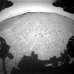 Nasa's Mars rover Curiosity acquired this image using its Front Hazard Avoidance Camera (Front Hazcam) on Sol 743, at drive 1156, site number 41