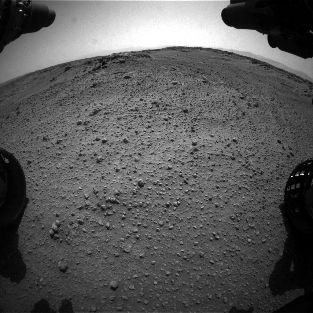 Nasa's Mars rover Curiosity acquired this image using its Front Hazard Avoidance Camera (Front Hazcam) on Sol 743, at drive 1330, site number 41