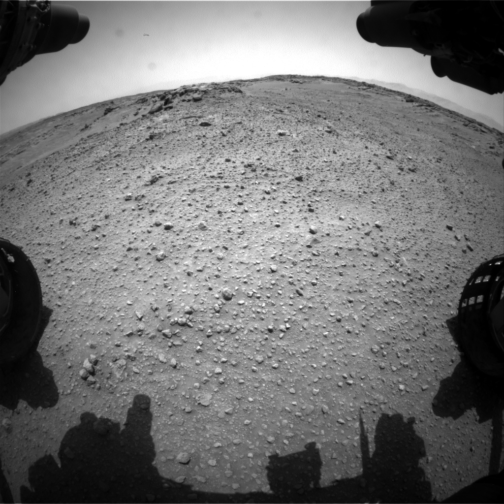 Nasa's Mars rover Curiosity acquired this image using its Front Hazard Avoidance Camera (Front Hazcam) on Sol 744, at drive 1330, site number 41