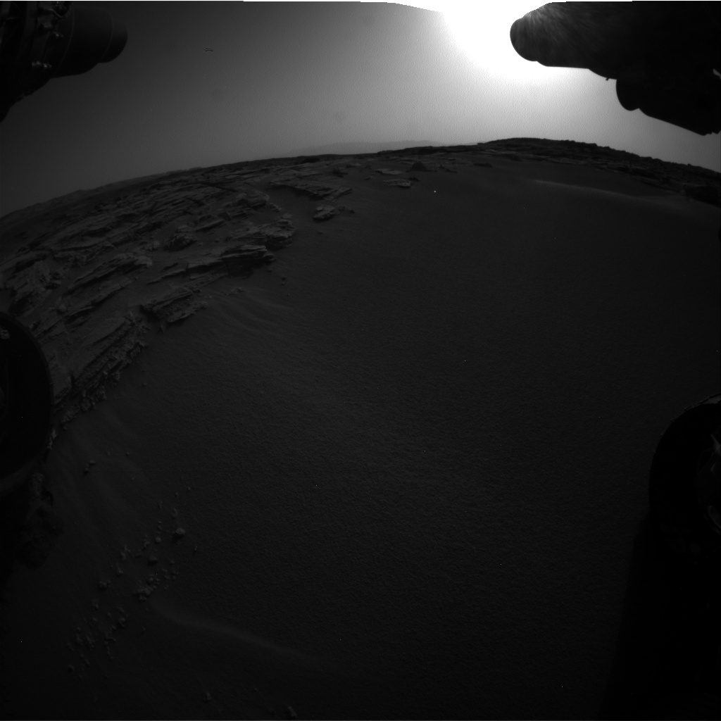 Nasa's Mars rover Curiosity acquired this image using its Front Hazard Avoidance Camera (Front Hazcam) on Sol 744, at drive 1570, site number 41