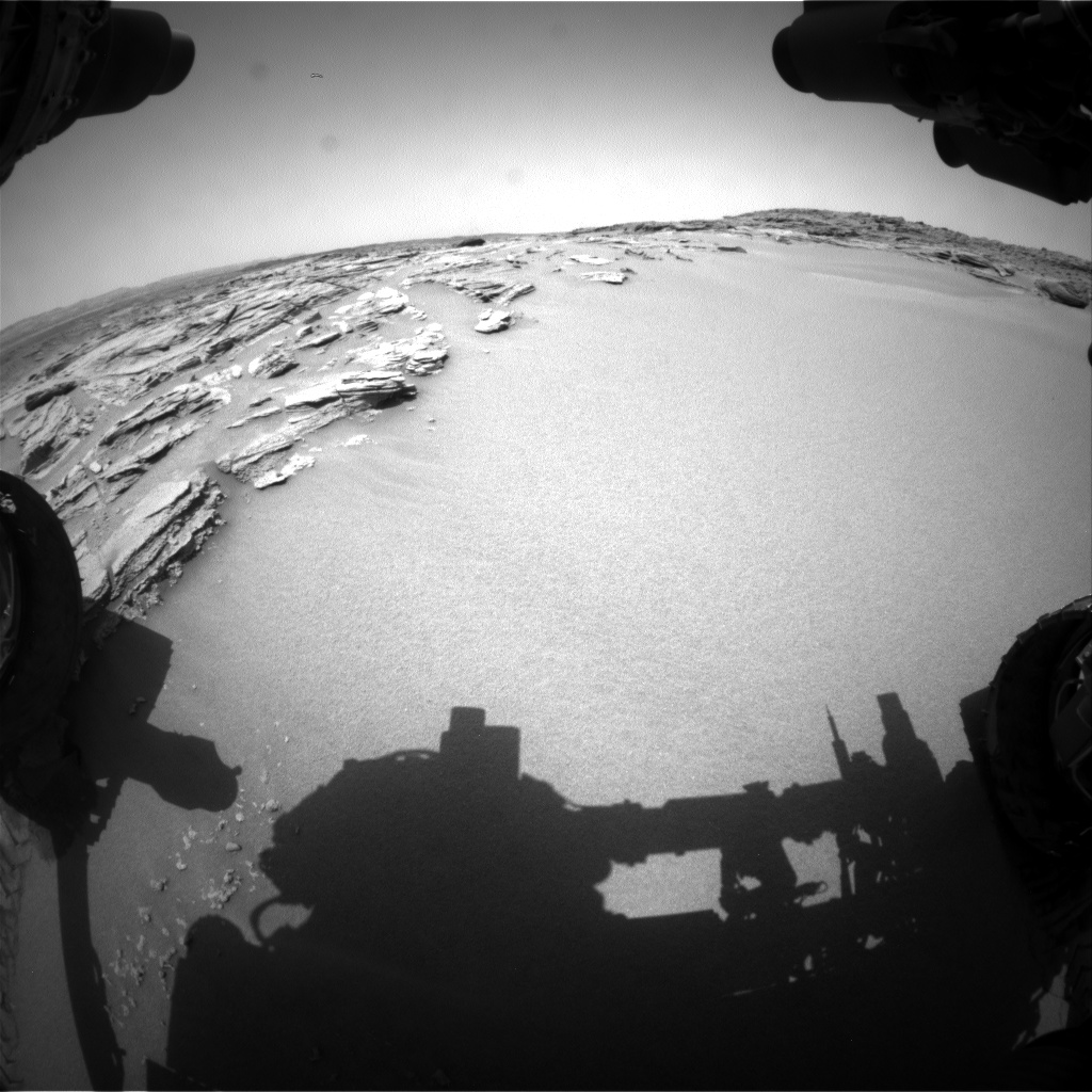 Nasa's Mars rover Curiosity acquired this image using its Front Hazard Avoidance Camera (Front Hazcam) on Sol 745, at drive 1570, site number 41