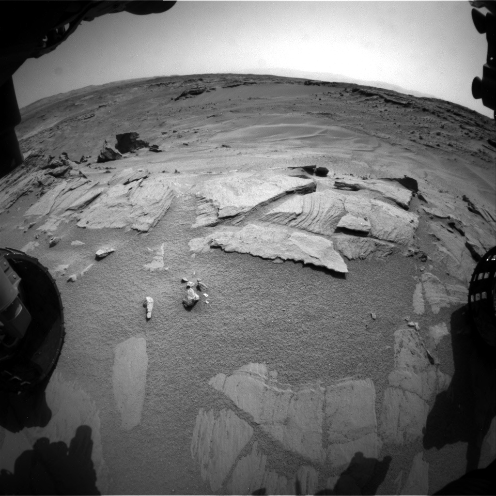 Nasa's Mars rover Curiosity acquired this image using its Front Hazard Avoidance Camera (Front Hazcam) on Sol 746, at drive 1642, site number 41