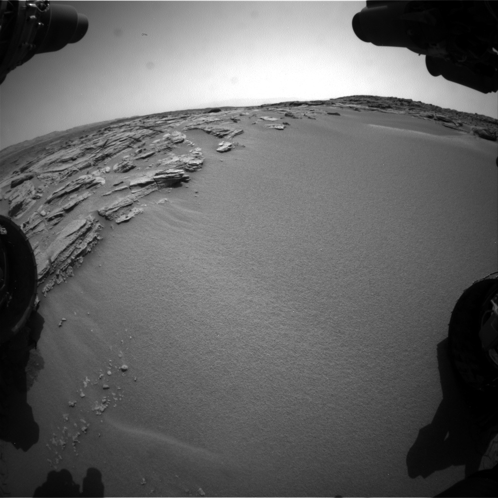 Nasa's Mars rover Curiosity acquired this image using its Front Hazard Avoidance Camera (Front Hazcam) on Sol 746, at drive 1570, site number 41