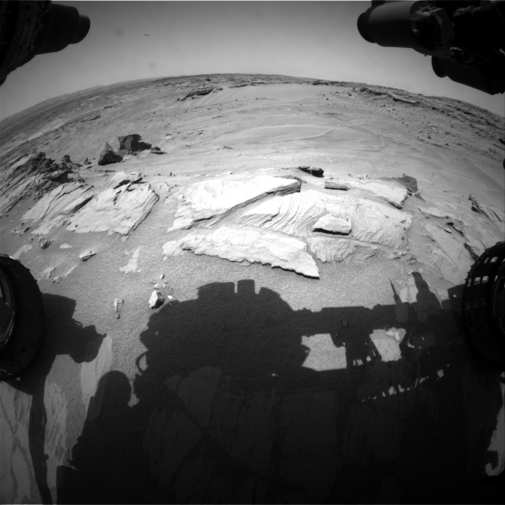 Nasa's Mars rover Curiosity acquired this image using its Front Hazard Avoidance Camera (Front Hazcam) on Sol 747, at drive 1642, site number 41