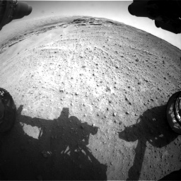 Nasa's Mars rover Curiosity acquired this image using its Front Hazard Avoidance Camera (Front Hazcam) on Sol 747, at drive 2230, site number 41