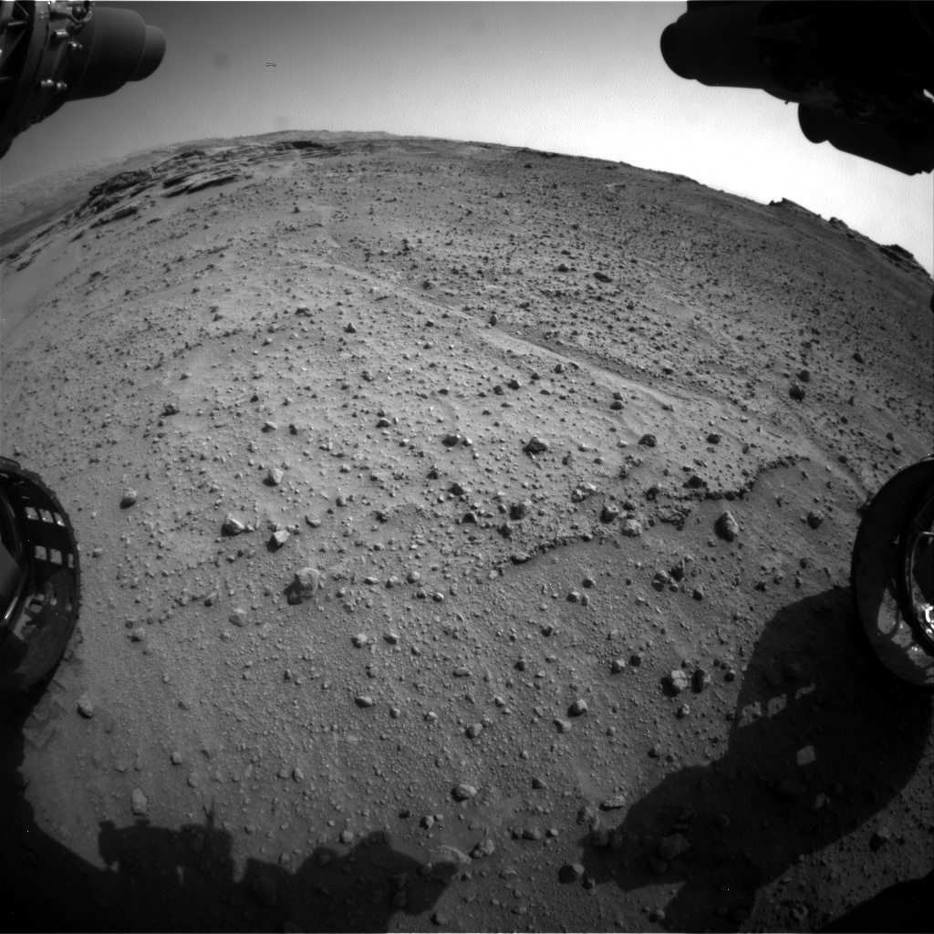 Nasa's Mars rover Curiosity acquired this image using its Front Hazard Avoidance Camera (Front Hazcam) on Sol 747, at drive 0, site number 42