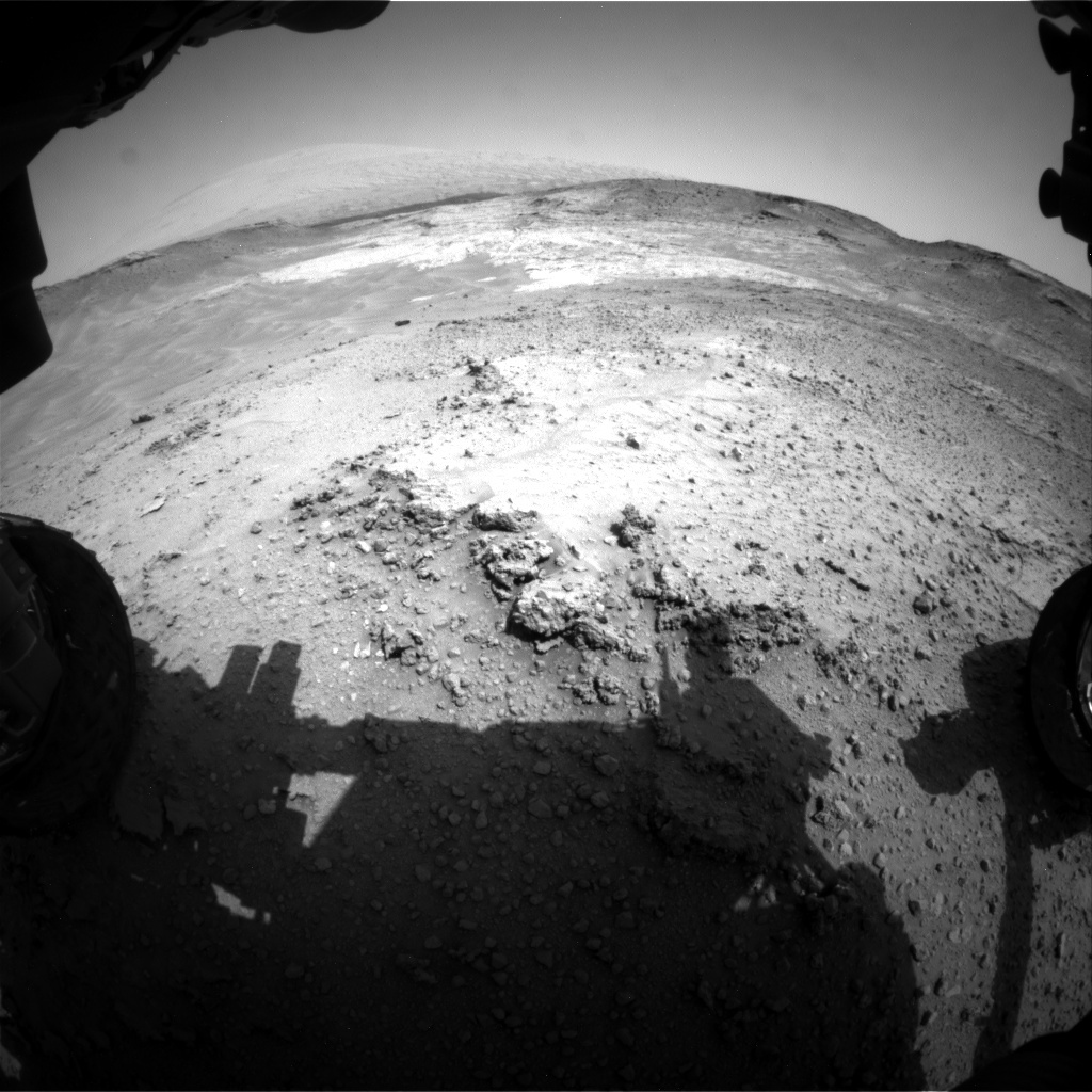 NASA's Mars rover Curiosity acquired this image using its Front Hazard Avoidance Cameras (Front Hazcams) on Sol 752