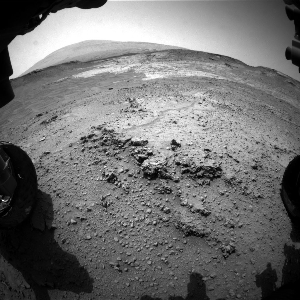 NASA's Mars rover Curiosity acquired this image using its Front Hazard Avoidance Cameras (Front Hazcams) on Sol 753